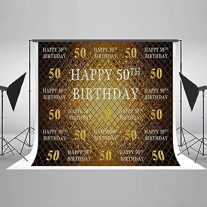 KateHome PHOTOSTUDIOS 2,2x1,5m 50th Cumpleaños Foto de Fondo Microfiber Glitter Oro Contextos de cumpleaños para fotografía Foto Estudio Cabina Fondos ...