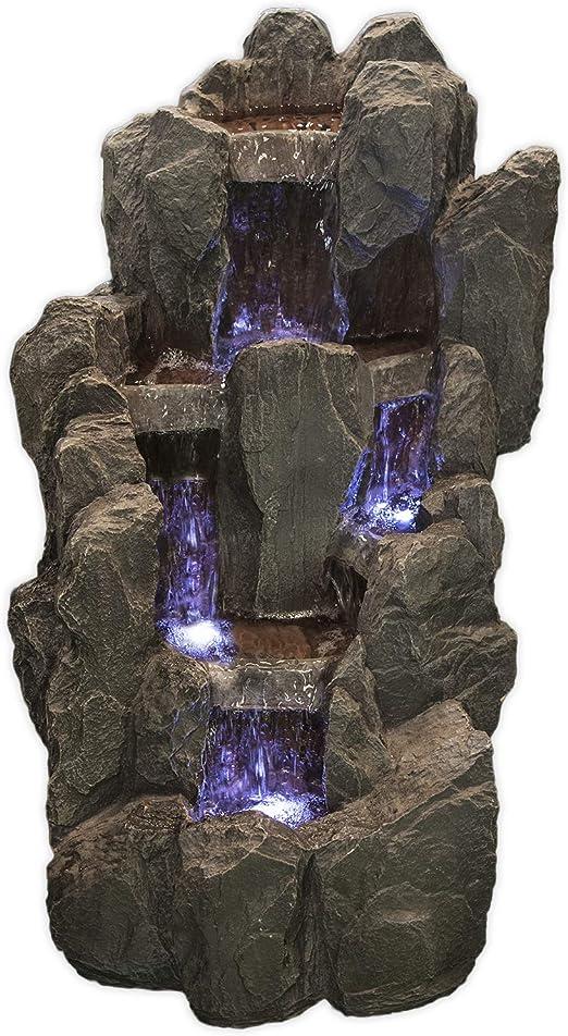 Köhko springbrunnen sächsi sche Suiza Jardín Fuente con iluminación LED de Fuentes Terraza: Amazon.es: Jardín