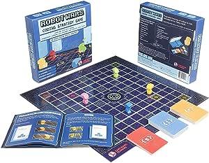 ROBOT WARS Juego de mesa de programación – Aprende y juega con programación de ordenador. Juguete y regalo para niños y niñas a partir de 7 años que utiliza el sistema STEM