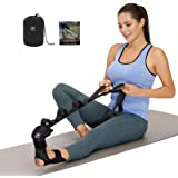 Foot and Calf Stretcher-Stretching Strap For Plantar Fasciitis , Heel Spurs, Foot Drop, Achilles Tendonitis & Hamstring. Yoga