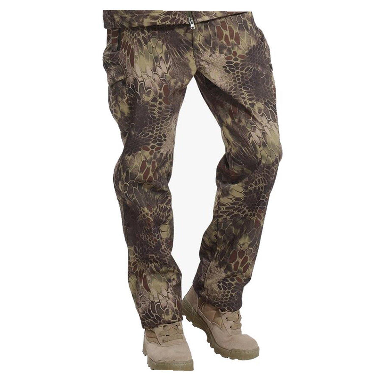 Wiipu Mens Shark Skin Soft Shell Tactical Military Camouflage Pants J1264
