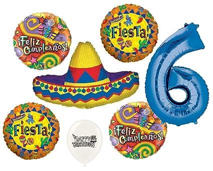 Amazon.com: Ultimate Sombrero Fiesta Feliz Cumpleanos 6th ...