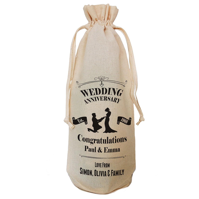 Cartas personalizado para boda botella bolsa, con cordón corbata ...