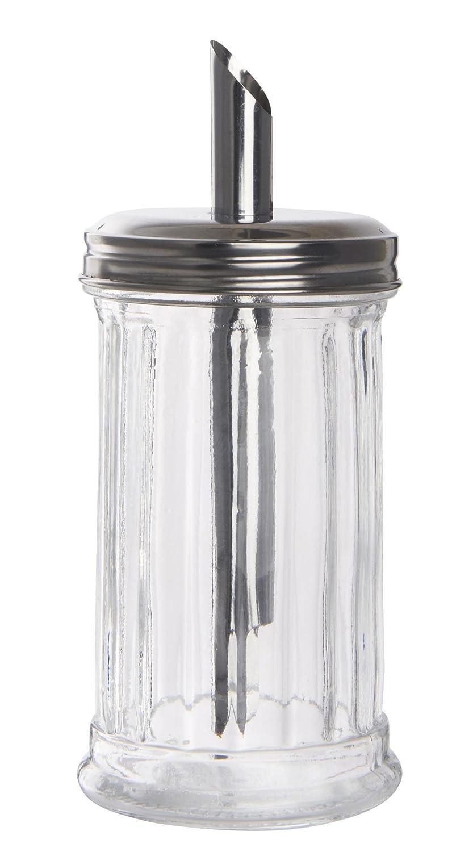 Zuckerspender H 17,5cm Zuckerstreuer mit Rillen aus Glas Ib Laursen 0682-00