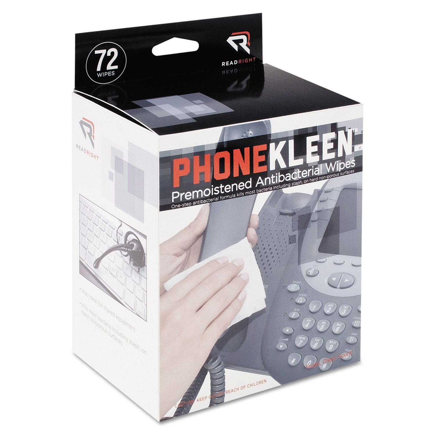REARR1303 - Read Right Phone Kleen Cleaning Wipes