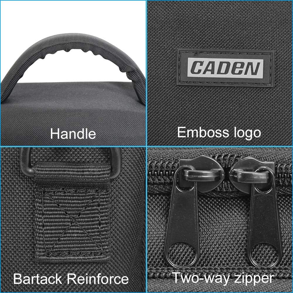 Canon Sony SLR//DSLR Mirrorless Cameras and Lenses Waterproof Black Large CADeN Camera Shoulder Crossbody Bag Case Compatible for Nikon