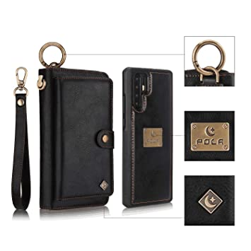 Cover for Samsung Galaxy S10 Plus Leather Card Holders Wallet case Extra-Protective Business Kickstand with Free Waterproof-Bag Gripping Samsung Galaxy S10 Plus Flip Case