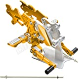 バックステップ 金 Ninja250R JBK-EX250K 08-12 Ninja250R 08-12 ニンジャ250R JBK-EX250K8-12 ニンジャ250R 08-12 バック ステップ