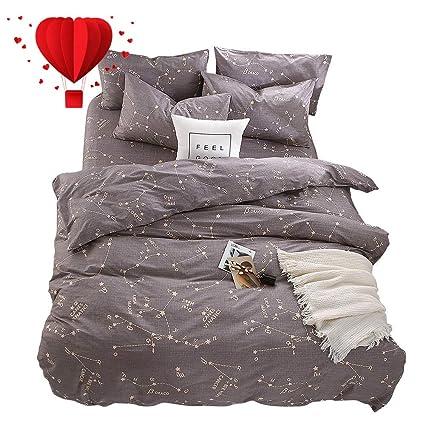 Amazoncom Bulutu Bedding Constellation Print Twin Bedding Sets