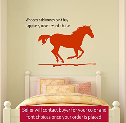 Horse wall decal, girls room quote decal, wall words decal, teen ...
