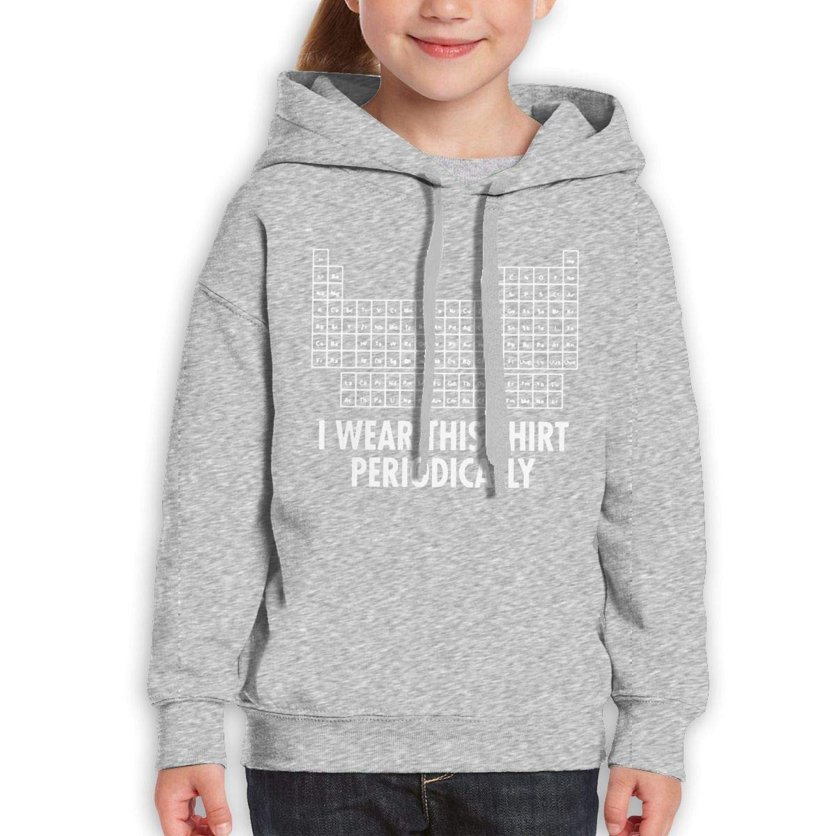 Boys Girls I Wear This Shirt Periodically Teen Youth Hoody Black