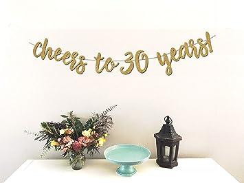 Amazon.com: Cheers a 30 años Banner – PREMIUM papel de ...