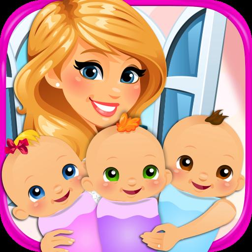 [Newborn Triplets - Newborn Baby & Mommy Pregnancy Games FREE] (Make An Elsa Dress)