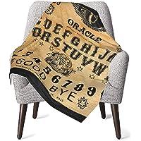 Babyfilt Ouija-bräda svart mjuk varm mottagande filt för pojkar flickor nyfödda 76 x 102 cm