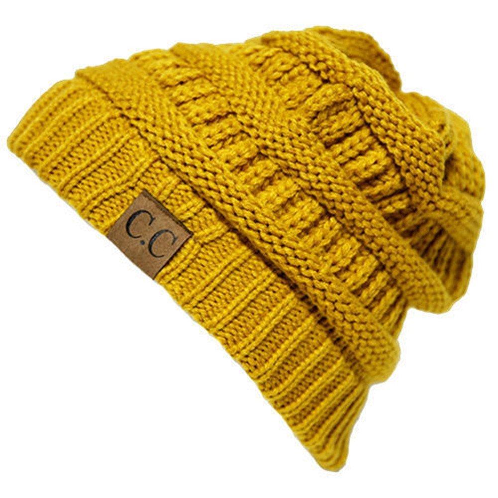アウトドアスキー( US Seller )マスタード_冬帽子キャップファッションキャップ B01N2MGWKI