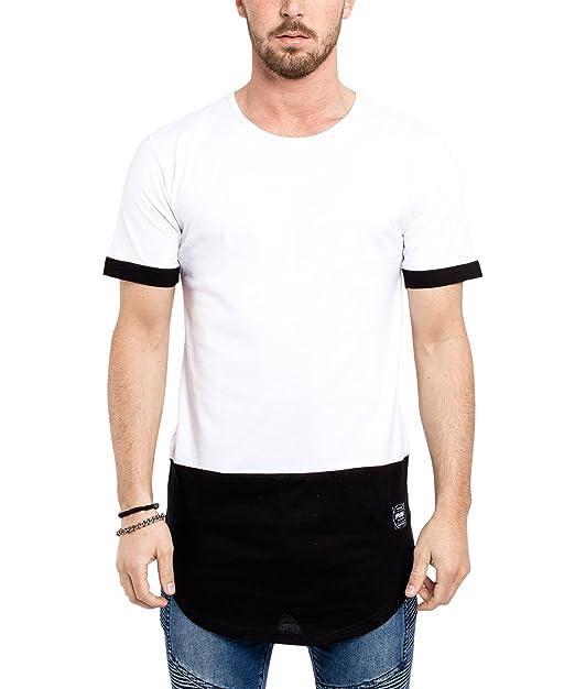 Phoenix Oversize Palangre Larga Camiseta Ronda para Hombre Alargada y Curvada tee Negro Gris Blanco S M L XL: Amazon.es: Ropa y accesorios
