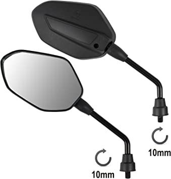 A Pro Mirrors Rearview Scooter Motorcycle Moped Motorbike Handlebar Universal M10 Auto