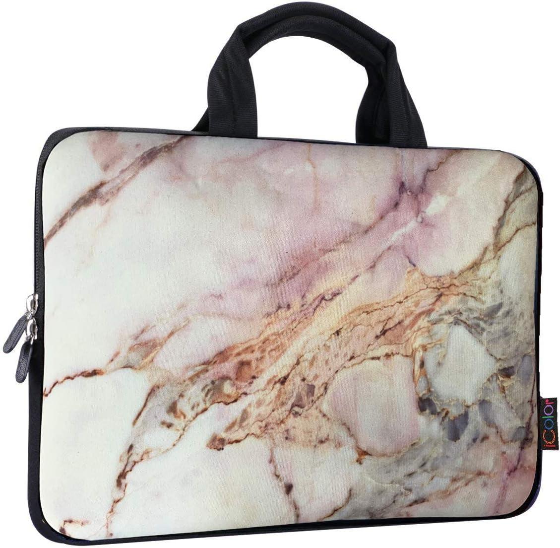 ICOLOR 11 11.6 12 12.1 12.5 inch Laptop Carrying Bag Chromebook Case Notebook Ultrabook Bag Tablet Cover Neoprene Laptop Sleeve case chromebook Sleeve with Handle Kids Boys Girls Marble