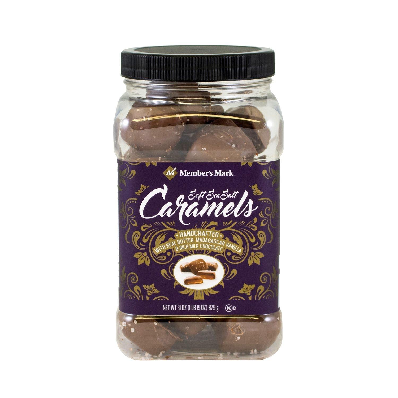 Members Mark Milk Chocolate Soft Sea Salt Caramels-31 oz (2 PK)