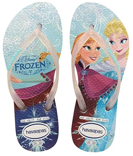 98e73984c Havaianas Flip Flops Girls Slim Princess  Amazon.co.uk  Shoes   Bags