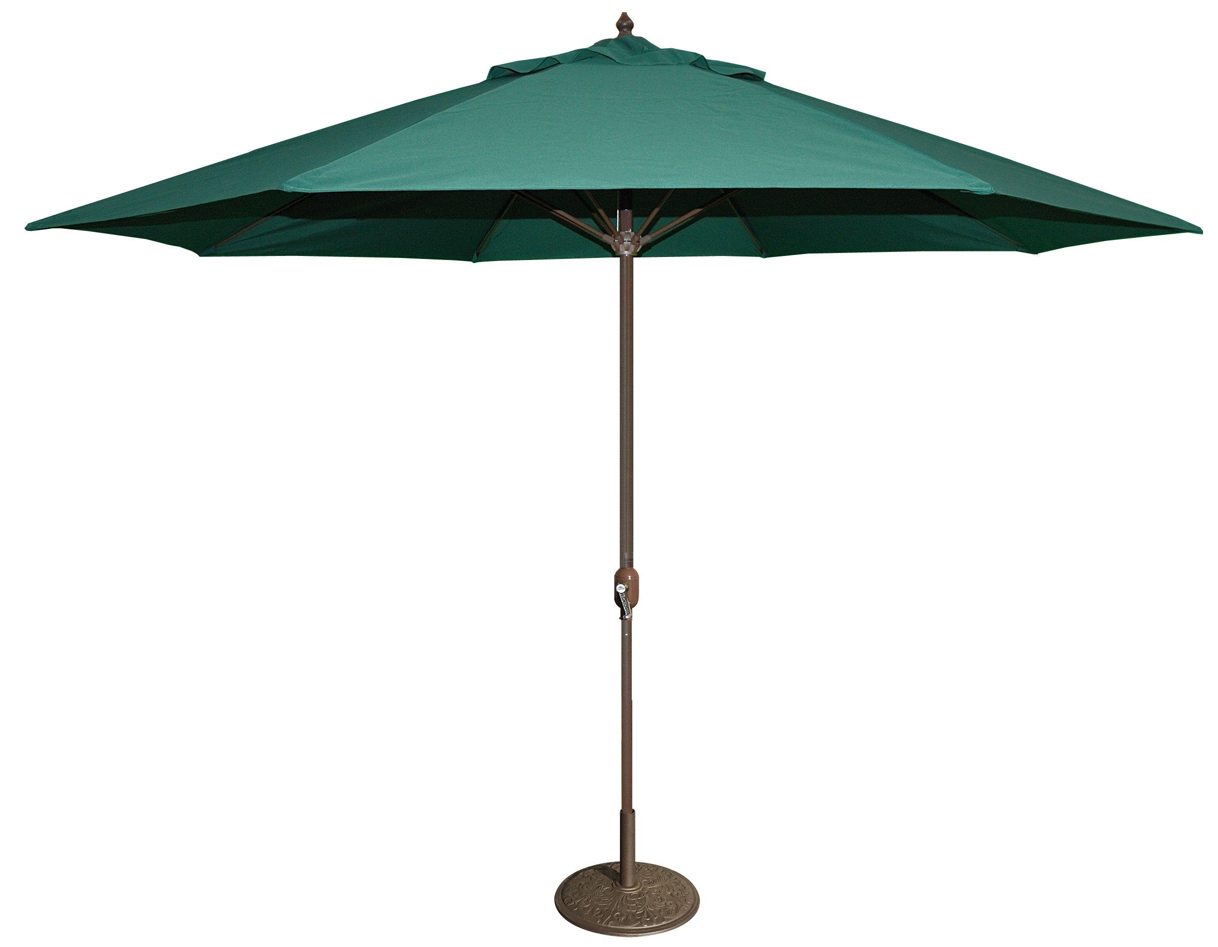 Tropishade 11' Umbrella with Premium Green Olefin Cover
