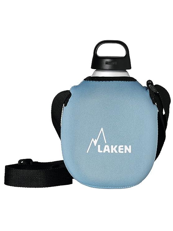 Laken Cantimplora de Aluminio 1L con Funda Azul de Neopreno