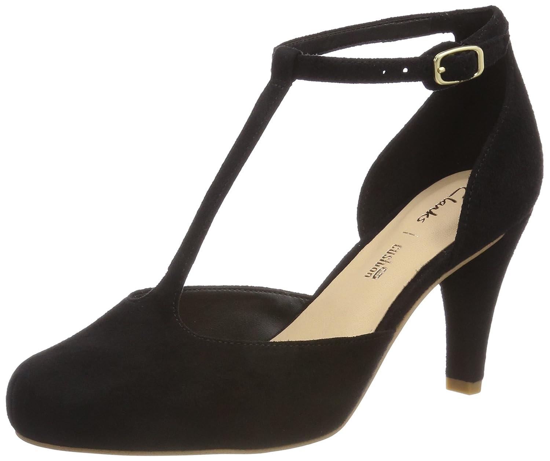 Clarks Dalia Tulip, Zapatos de Tacón para Mujer 39 EU|Negro (Black Sde)