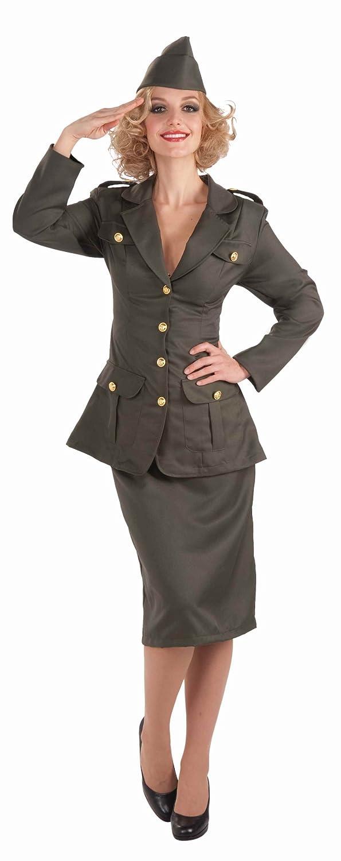 Amazon.com Forum Novelties Womenu0027s WWII Army Gal Costume Green Standard Clothing  sc 1 st  Amazon.com & Amazon.com: Forum Novelties Womenu0027s WWII Army Gal Costume Green ...