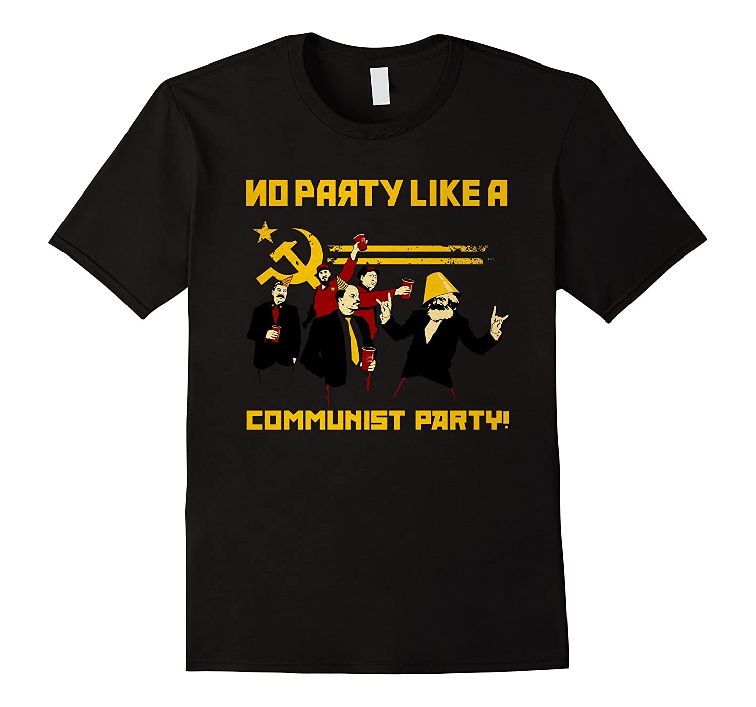 bc98d1af No Party Like A Communist Party - Funny Communist T-Shirt-TH - TEEHELEN