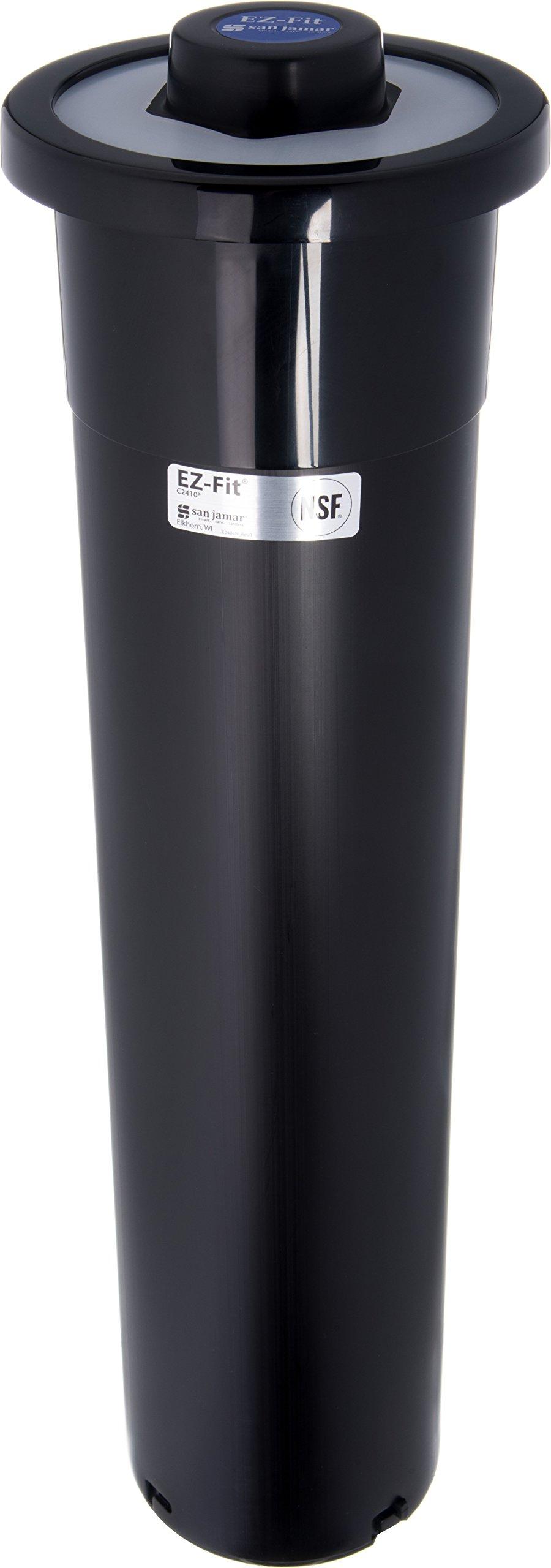 San Jamar C2410C Plastic Ez-Fit Counter Mount Cup Dispenser