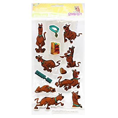 Scooby-Doo! Raised Glittery Sticker Sheet (12 Stickers): Toys & Games
