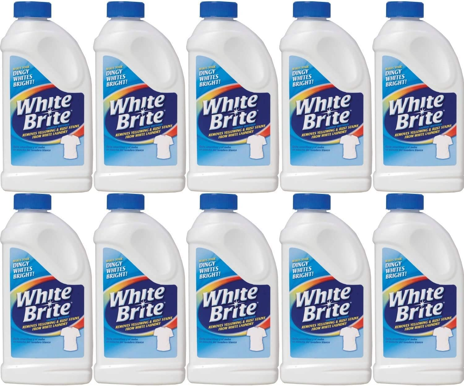 Pack of 10 - Out White Brite Laundry Whitener, 28 Ounces