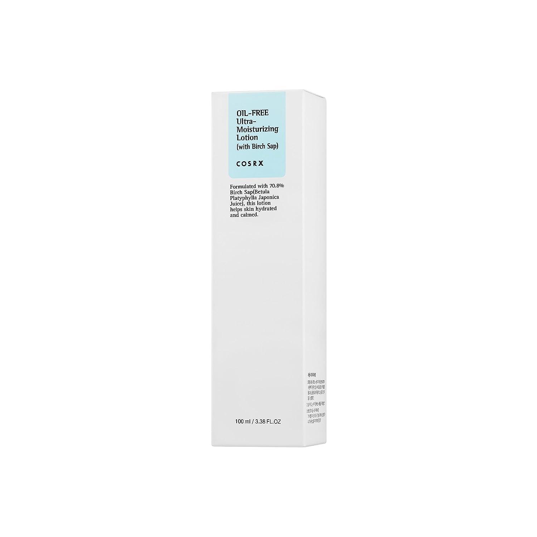 COSRX Oil-Free Ultra-Moisturizing Lotion with Birch Sap, 3.38 fl.oz / 100ml | Daily Moisturizer | Korean Skin Care, Vegan, Cruelty Free, Paraben Free: Beauty