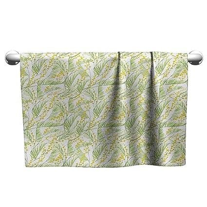 Amazon.com: alisoso garden art,pool towels watercolor mimosa