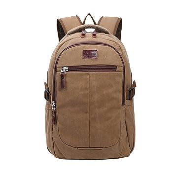YoungSoul Mochilas lona hombre y mujer, Mochilas casual grande bolsos de viaje vintage mochilas escolares