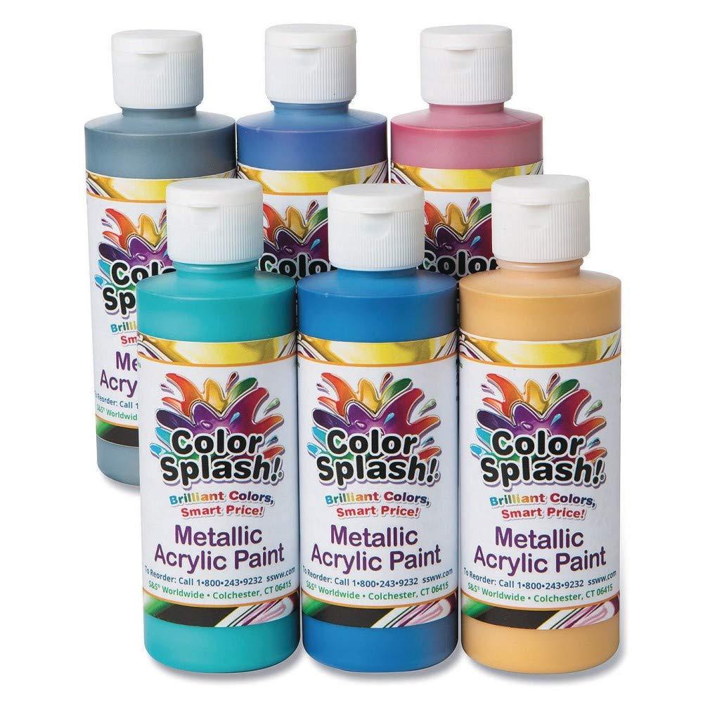 8-oz. Color Splash! Metallic Acrylic Paint Assortment by Color Splash