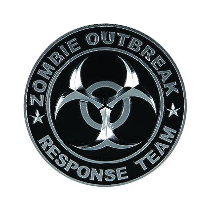 Pilot Automotive Pilot IP-3143 Zombie Response Team Emblem Chrome//Black