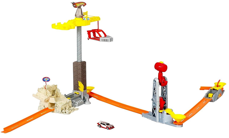 Mattel - Hot wheels - Circuit petite voiture - Spin Wrecker - set de Jeux P7613