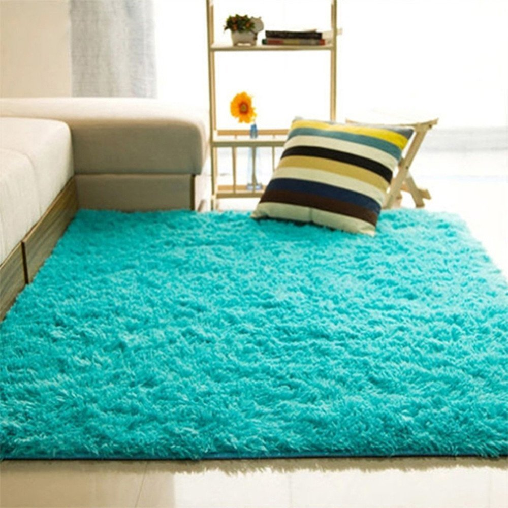 ALCYONEUS, tappeto morbido, rettangolare, antiscivolo. Adatto per il pavimento di camera da letto o soggiorno, Beige, 40*60cm