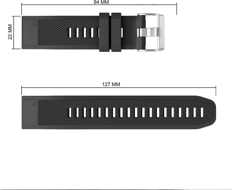 13.5cm-22.5cm TOPsic Garmin Fenix 5 Banda no Adapta a Fenix 5X 5s Silicona Reemplazo Correa con 2pzs Destornilladores para Garmin Fenix 5 // Forunner 935 Smart Watch