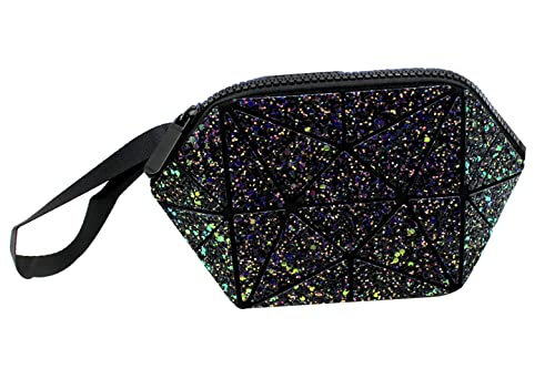 Women Plaid Rainbow Shoulder Bag Sparkling Sequins Cosmetic Bag Purse with  Chain Strap b84aae971580