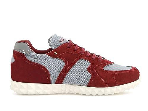 Valentino Hombre Ny0s0a40tdg39p Burdeos Cuero Zapatos: Amazon.es: Zapatos y complementos