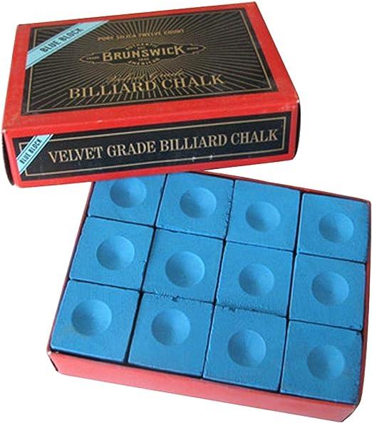 ZXYAN Caja para Actividades al Aire Libre de 12 Cajas de Tiza para Billar/Taco de Billar, Accesorio para Billar: Amazon.es: Hogar