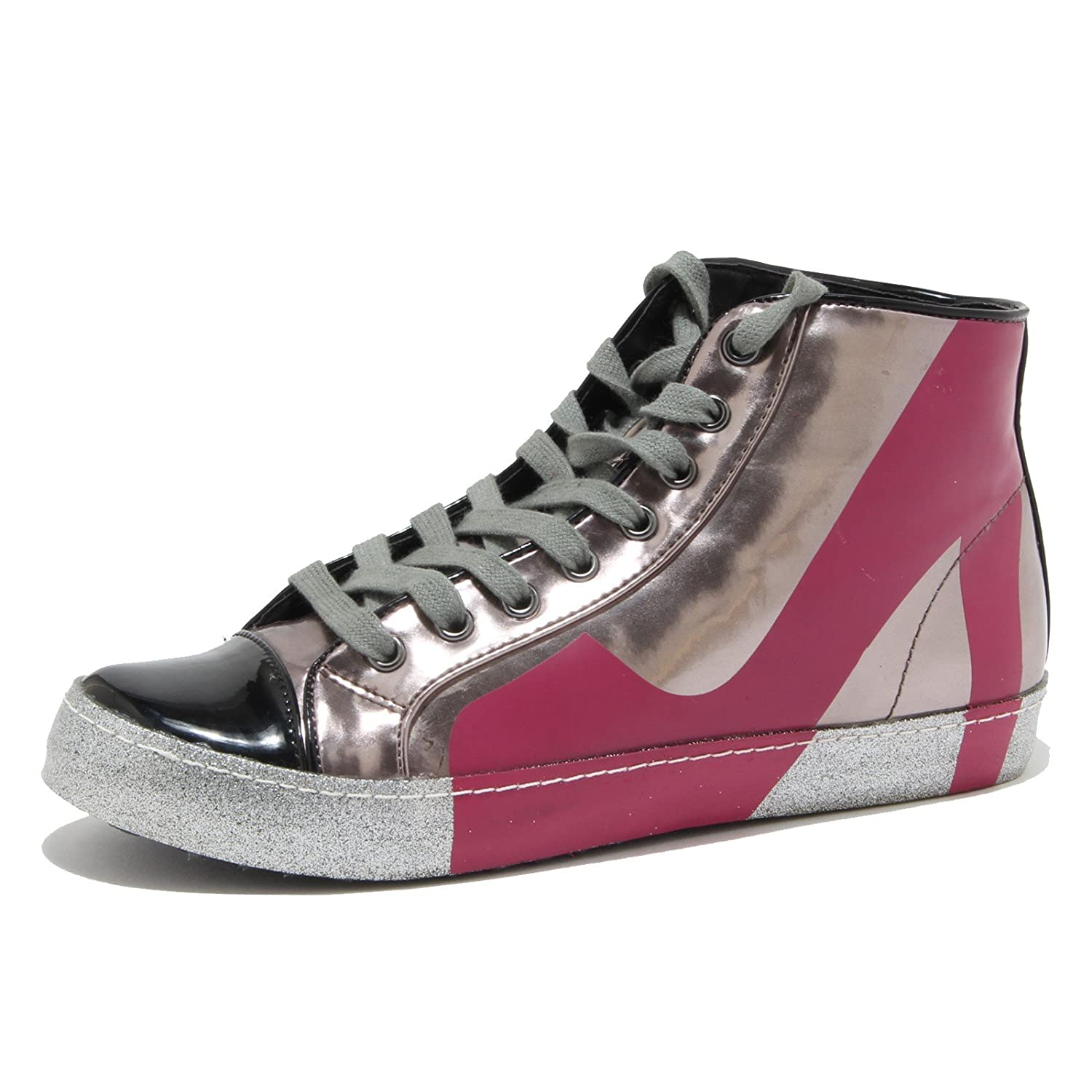 Colors of California 80873 Sneaker Scarpa Donna Shoes Women 38 EU|NERO/ARGENTO