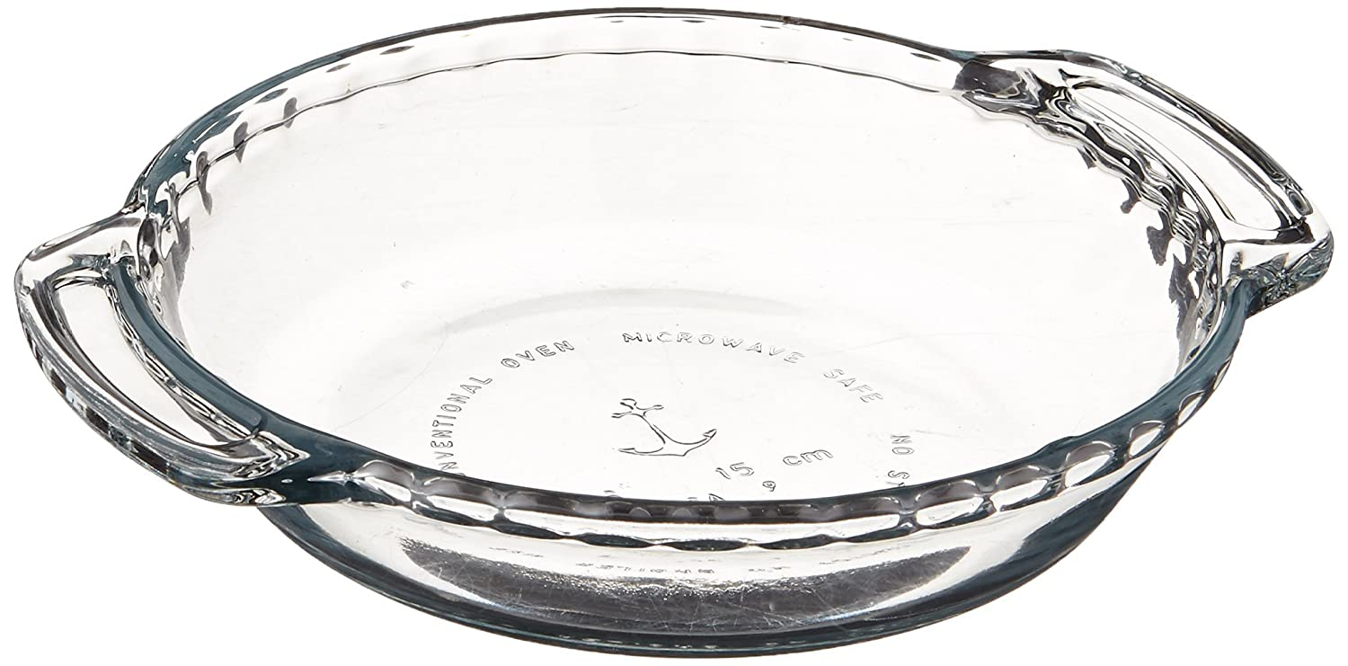 Anchor Hocking Oven Basics Glass 6 Inch Mini Pie Plate, Set of 2 Glass Pie Plate 6 Inch