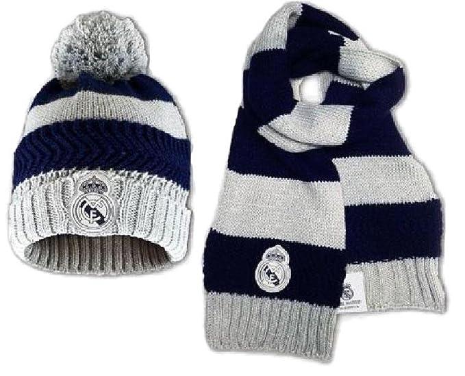 c39de0b6b660 Bonnet plus echarpe enfant Real de Madrid club Ronaldo CR7 Article sous  licence officielle