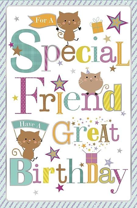 Lindo amigo especial reflexiones Tarjeta de cumpleaños 22,86 ...