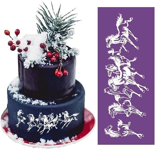 Fantastic Amazon Com Art Kitchenware 18 17 5 Large Running Horse Lace Personalised Birthday Cards Vishlily Jamesorg