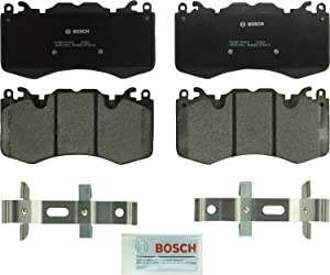 Bosch BP1426 QuietCast Premium Semi-Metallic Disc Brake Pad Set For Land Rover: 2010-2016 Range Rover, 2010-2016 Range Rover Sport; Front