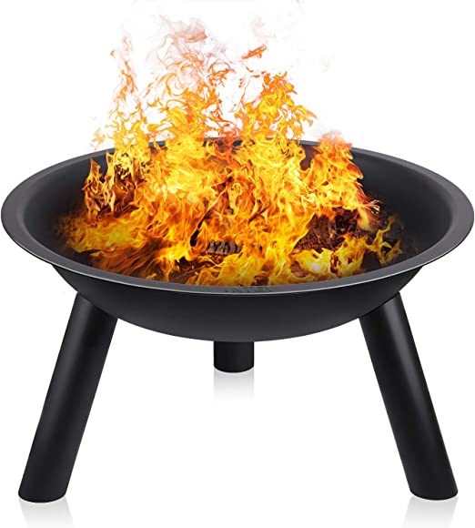 INTEY Brasero en jardín(55.5 * 31.5 cm) para Barbacoa BBQ con Trípode, Resistente a la Abrasión y Durable, Conveniente Herramienta de Calentamiento de Parrilla para Exteriores: Amazon.es: Jardín